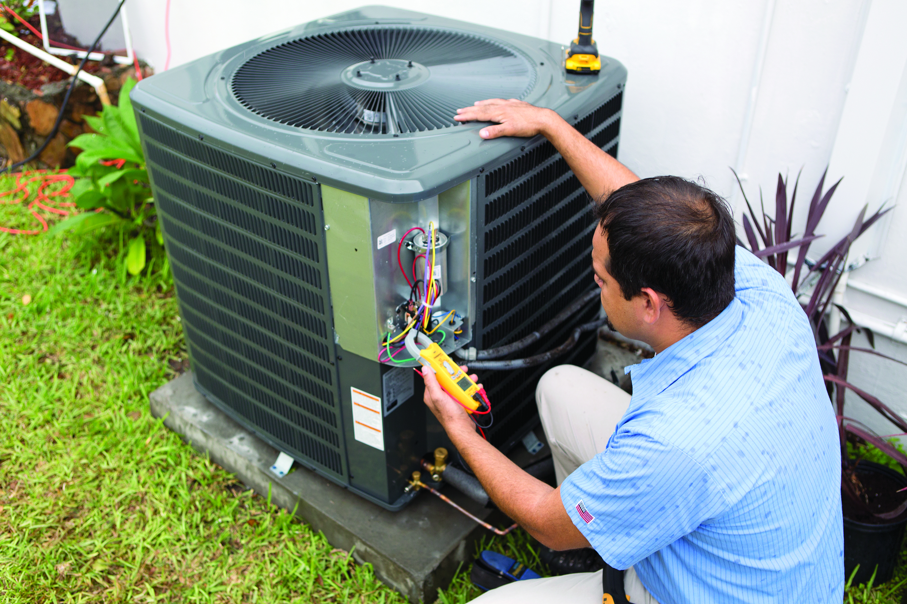 HVAC dealer installing GDM for residential job